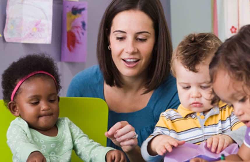 Toddler settling in nursery