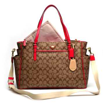 Coach Signature Multifunction Tote And Baby Diaper Bag