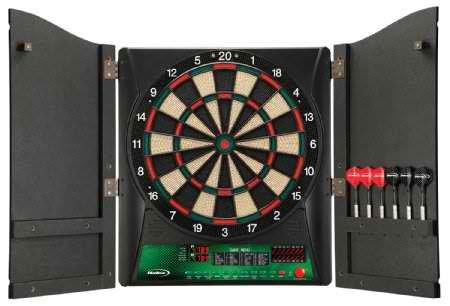 Regent-Halex Millennia 1.0 Electronic Dartboard In Wood Cabinet
