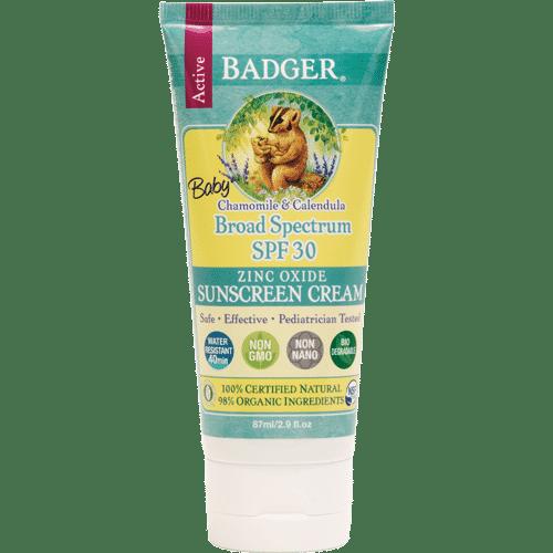 Badger Baby Sunscreen Cream, SPF 30