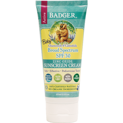 Badger Baby Sunscreen Cream, SPF 30