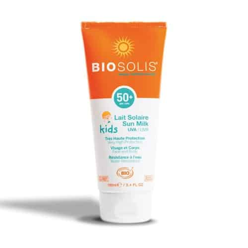 Biosolis Kids Sun Milk Face & Body Organic Sunscreen, SPF 50
