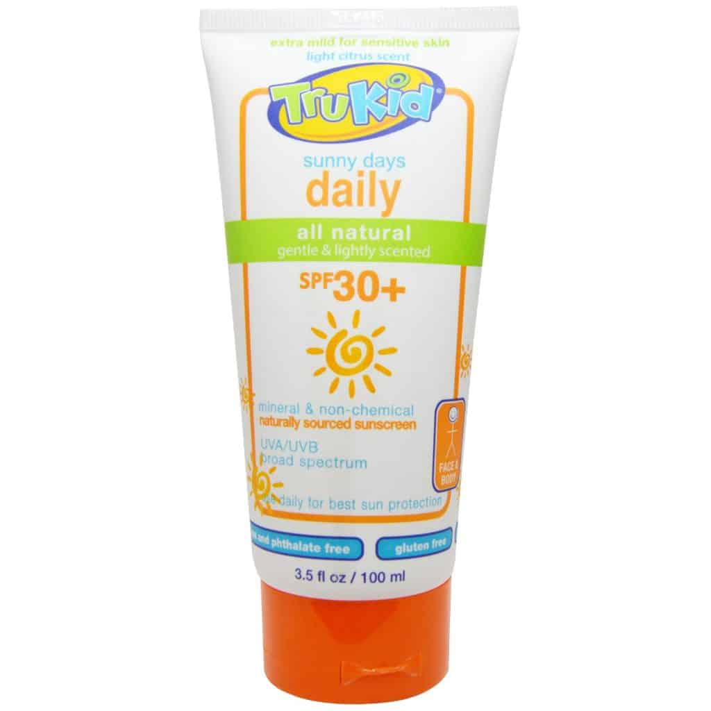 TruKid Sunny Days Daily Sunscreen, SPF 30+