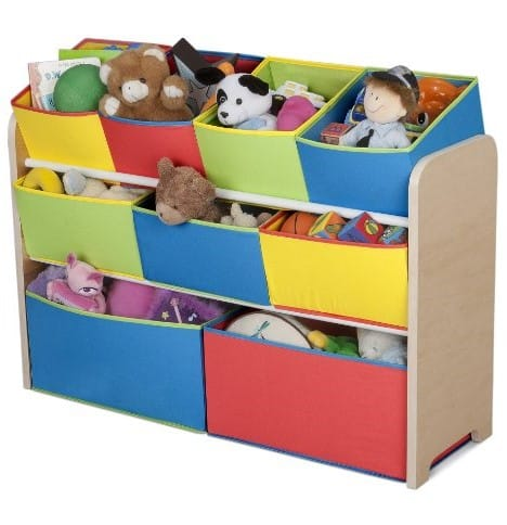 Delta Multi-Color Deluxe Toy Organizer with Storage Bins