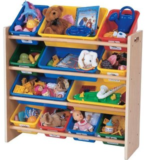 Tot Tutors Kids Toy Organizer With Storage Bins