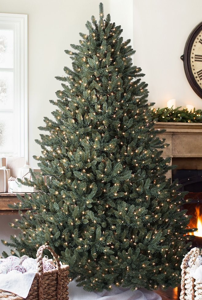 Balsam Hill Blue Spruce Artificial Christmas Tree - Top 5 Best Prelit Christmas Trees 2019 Reviews ParentsNeed