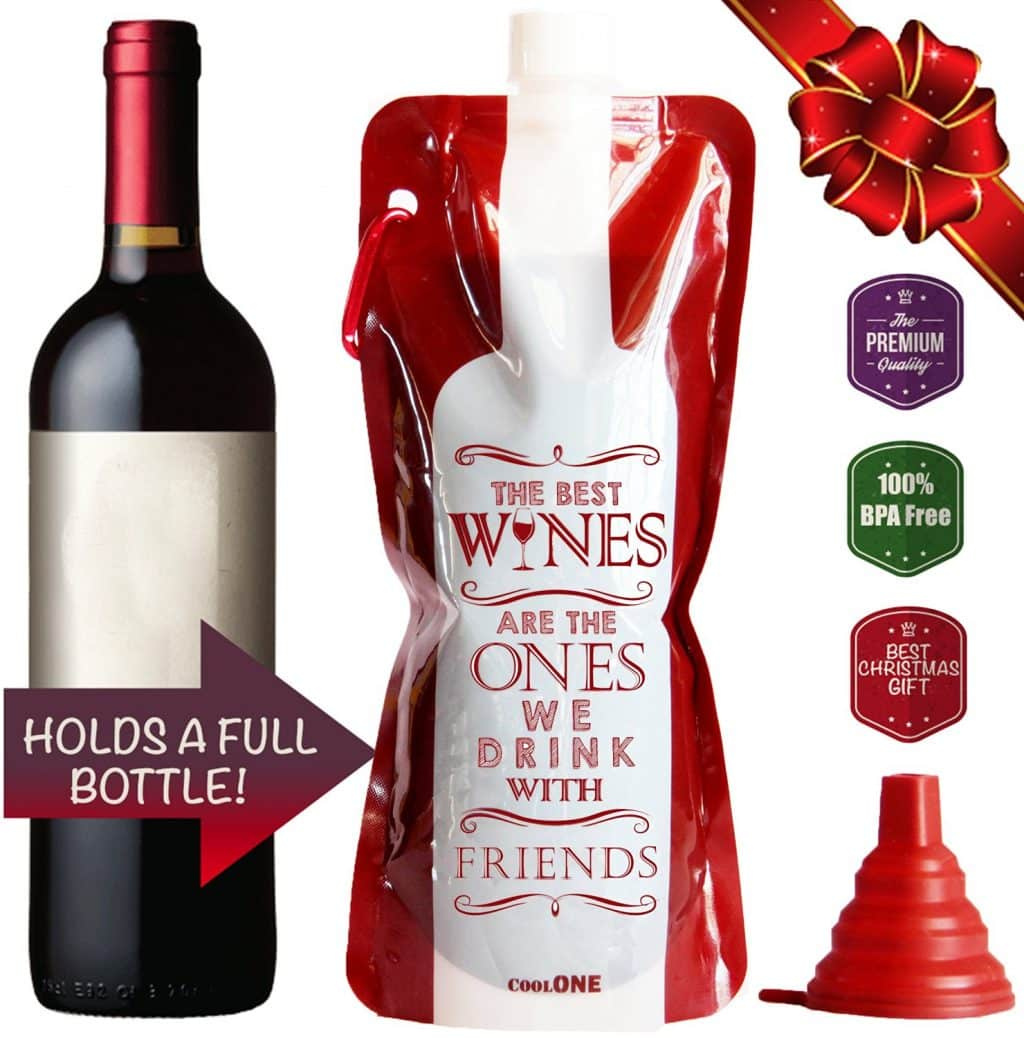 Cool One Flexible Unbreakable Wine Bottle