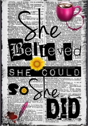 Daily Gratitude Journal - She Believed She Could So She Did