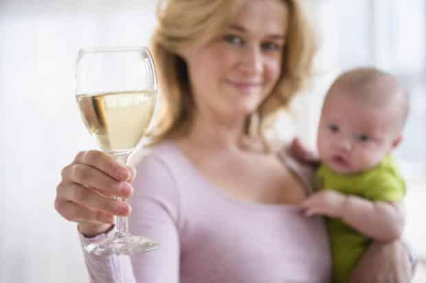 wine breastfeeding