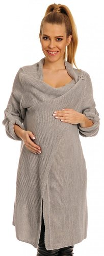 Happy Mama Women's Maternity Waterfall Cardigan Blazer