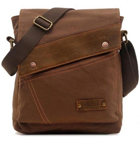 Vere Gloria Small Canvas Messenger Bag