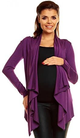 Zeta Ville Women's Pregnancy Maternity Waterfall Cardigan