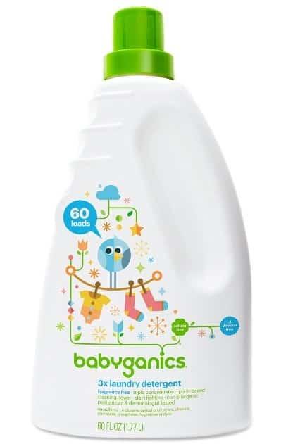 Babyganics 3X Baby Laundry Detergent, Fragrance Free