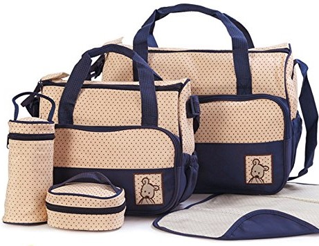 Moolecule 7 in 1 Mommy Diaper Bag Set