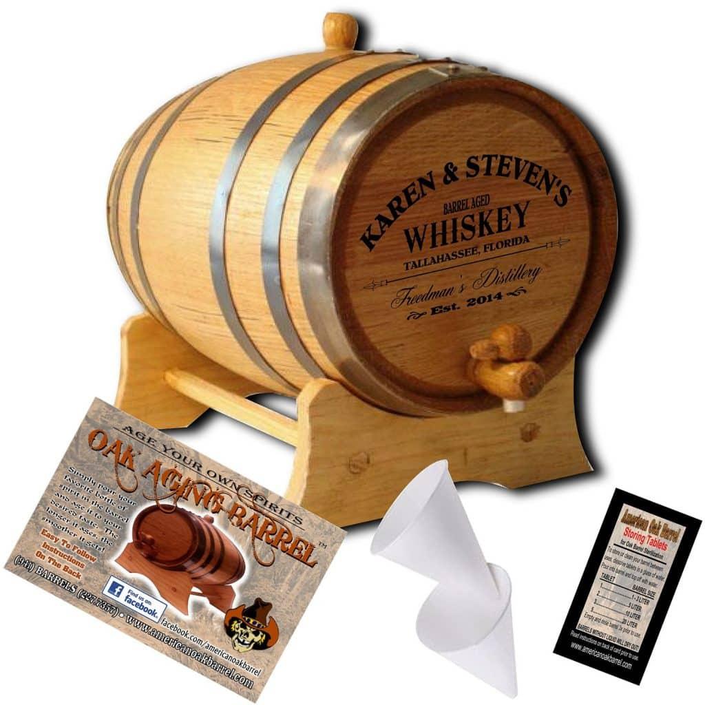 Personalized American Oak Aging Barrel