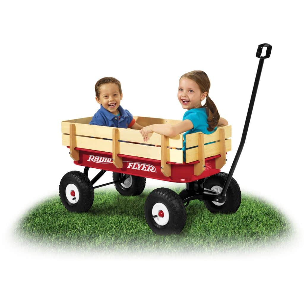 All terrain steel and wood wagon