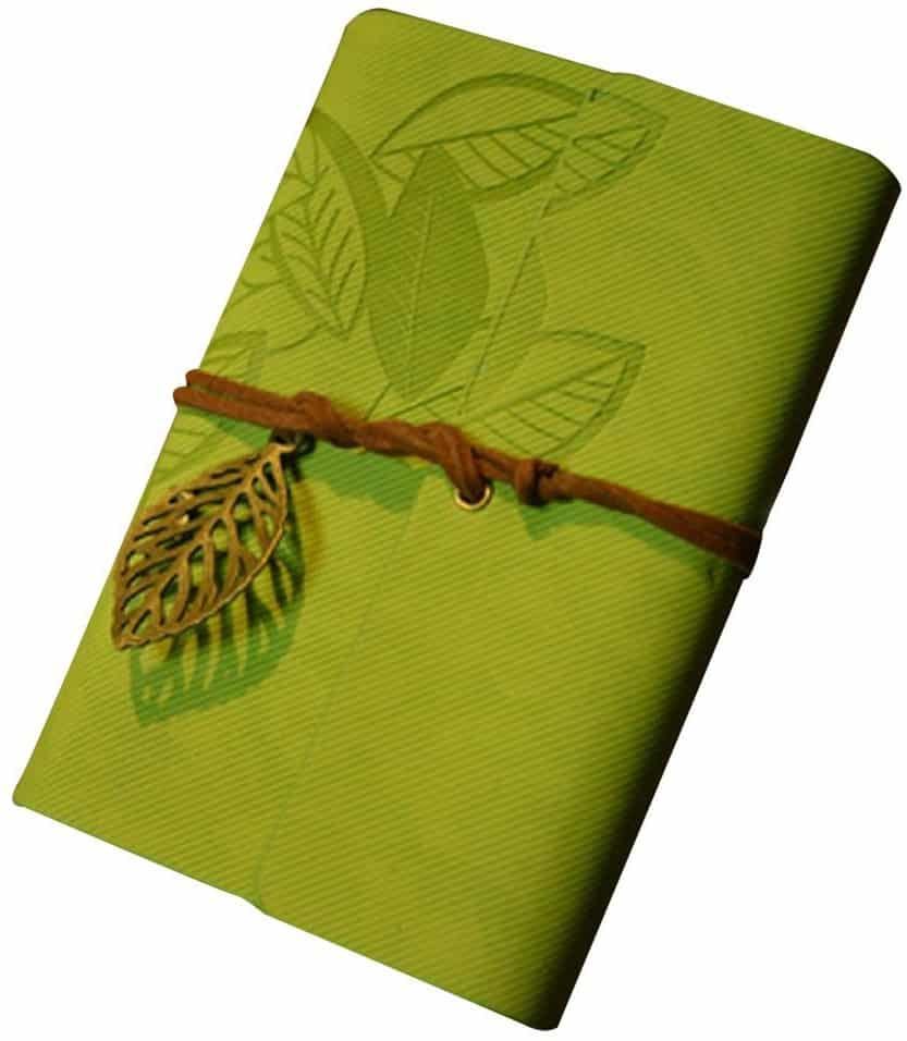 Anboo Retro Leather Cover Leaf Journal