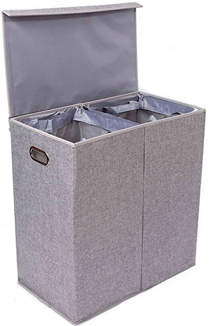 BirdRock Home Double Laundry Hamper