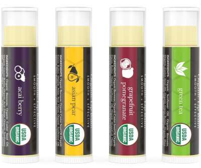 Beauty by Earth Exotic Organic Multi-Pack Beewax Lip Balm