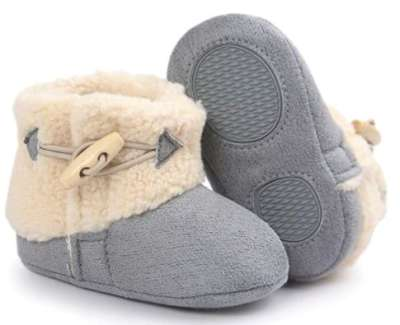 Elevin(TM) Baby Soft Sole Crib Shoes Anti-slip Prewalker Snow Booties