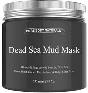 Pure Body Naturals Beauty Dead Sea Mud Mask for Facial Treatment