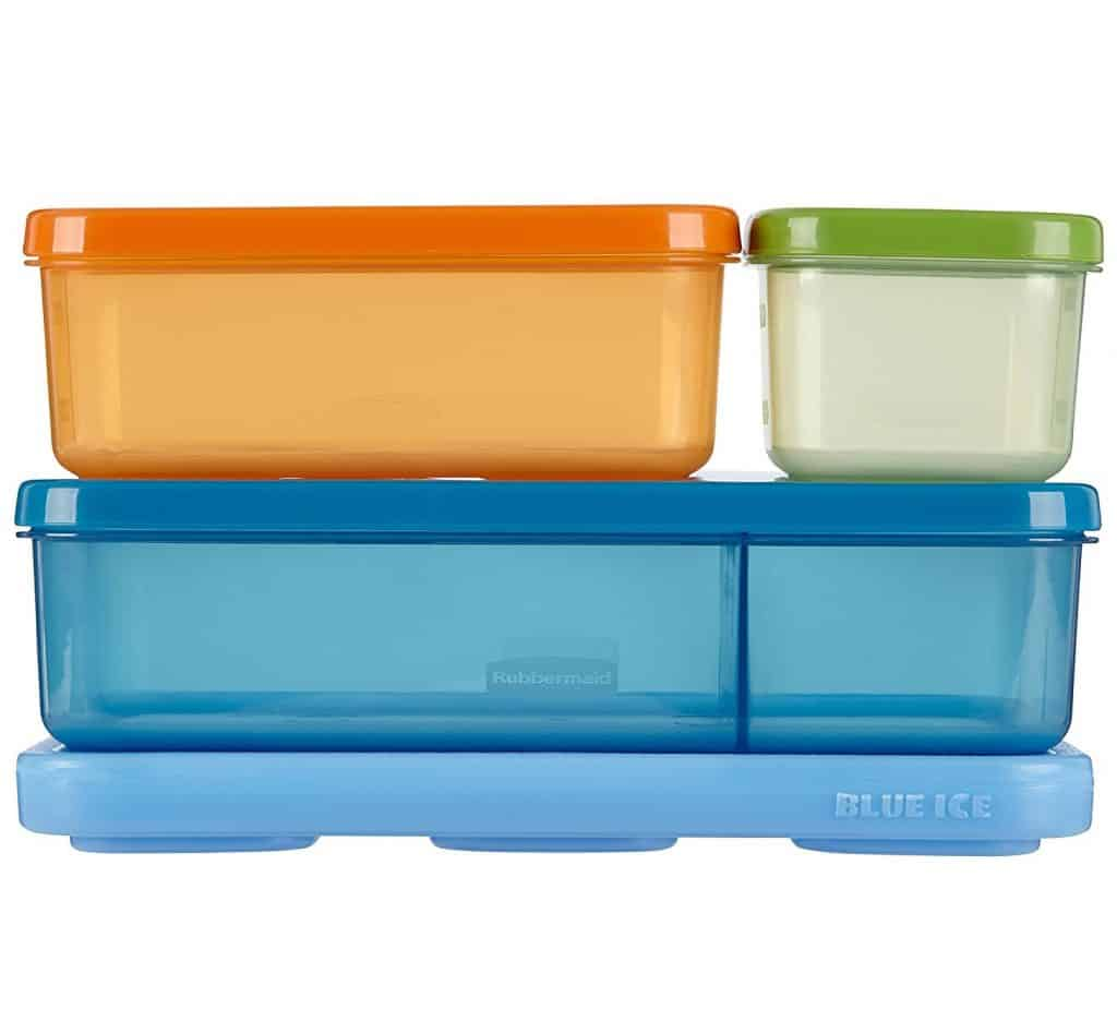 Rubbermaid 1866737 LunchBlox Kid's Flat Lunch Box Kit