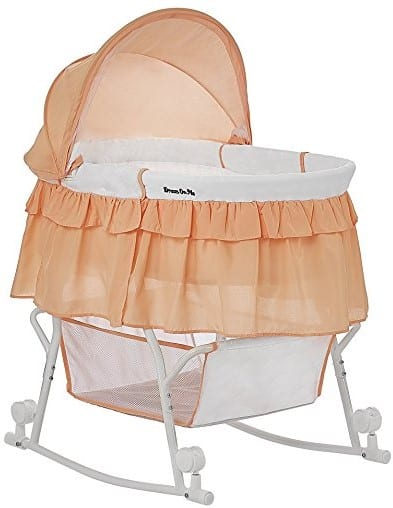 Dream On Me Lacy Bassinet and Cradle