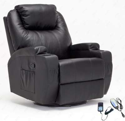 RECLINER GENIUS Leather Massage Recliner Chair