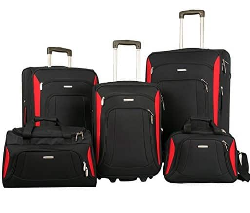 Merax Luggage Set Softshell Deluxe Suitcase