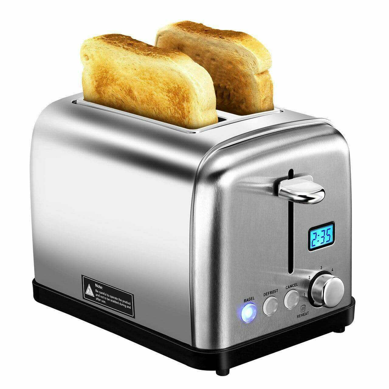2 Slice Toaster with LCD Timer by HOLIFE