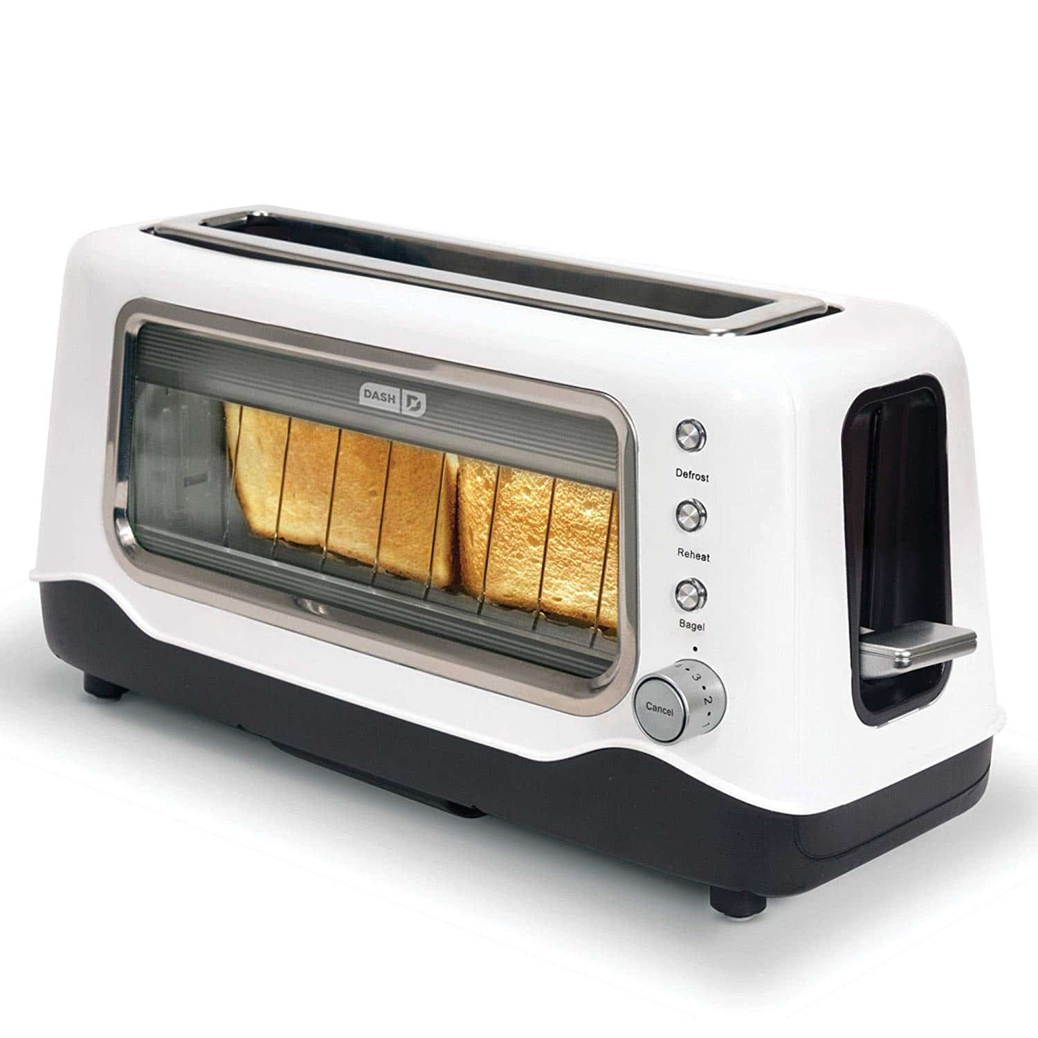 see through toaster that's easy to clean
