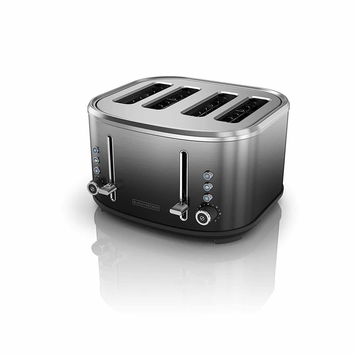 black and decker black and silver toaster