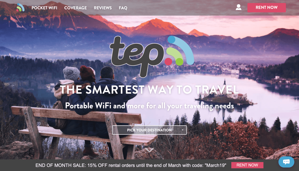 TEP Wireless Portable Wifi Internet Hotspot