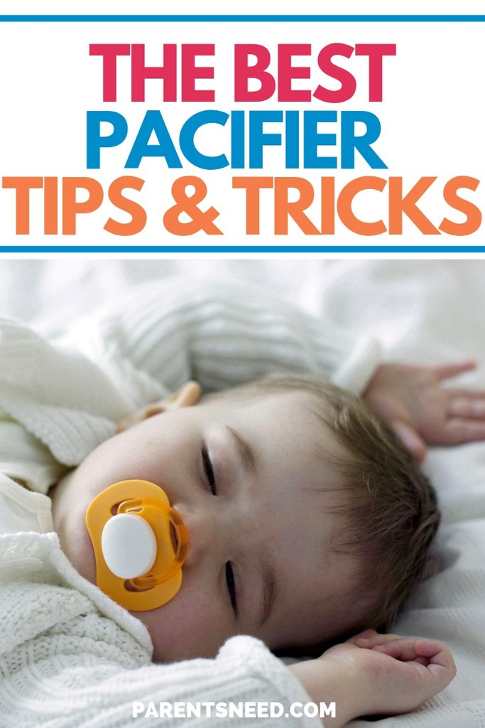 tips for using pacifiers
