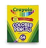 A box of 64 colored pencils by Crayola