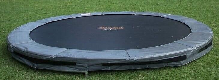 a 14-foot inground trampoline