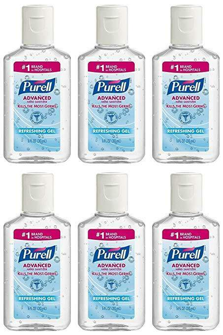 6 bottles of pocket sized purely hand sanitizers