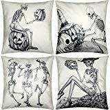 4 Pieces Halloween Pillow Case