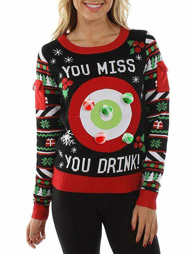 velcro ball game christmas sweater