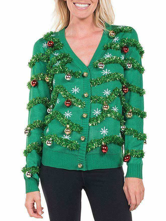 christmas sweater with christmas decorations