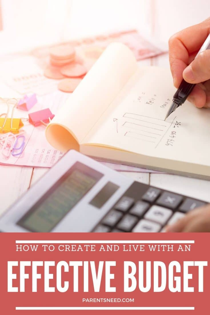 a homemaker preparing household budget with calculator and notepad